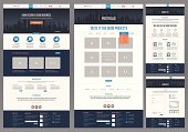 Variety of flat website templates