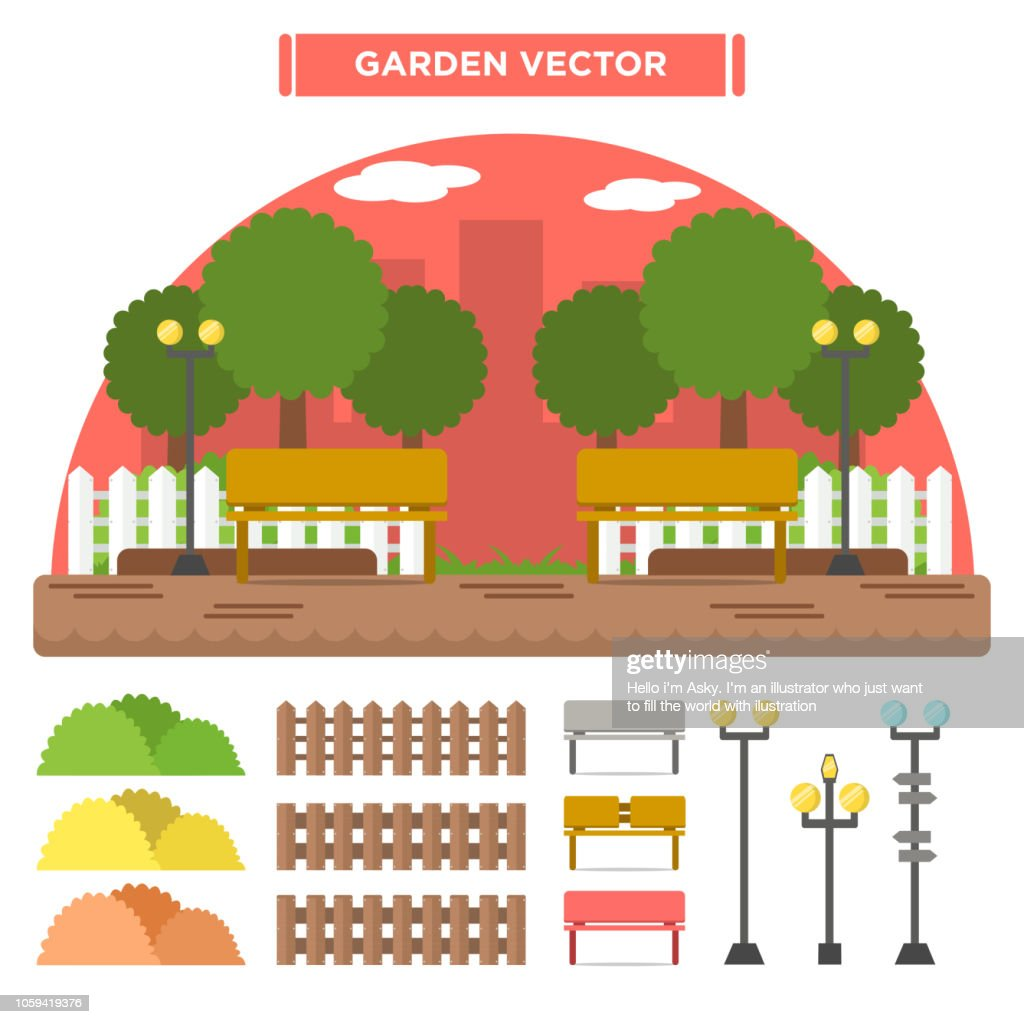 Variety of garden icon set 2