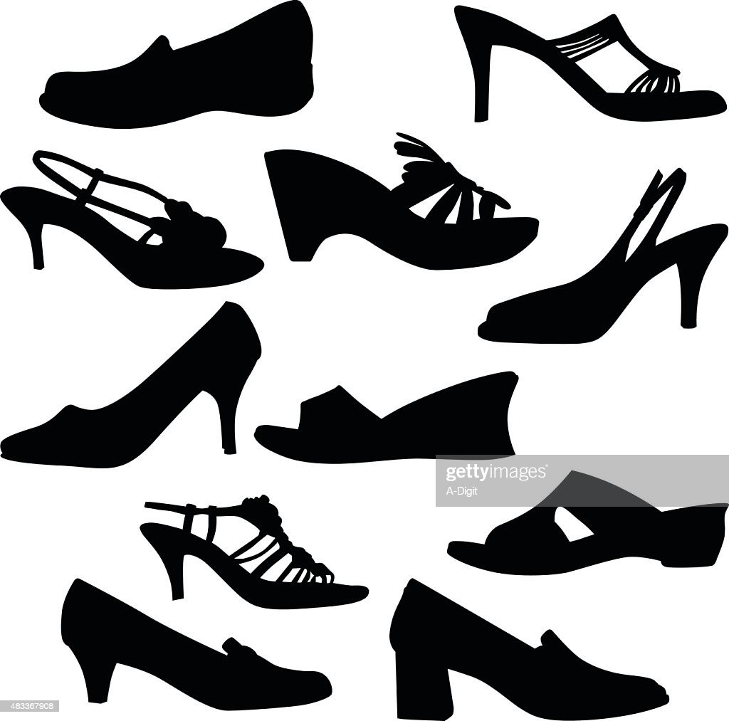 212c612e76eb Variety Of Shoes stock illustration - Getty Images