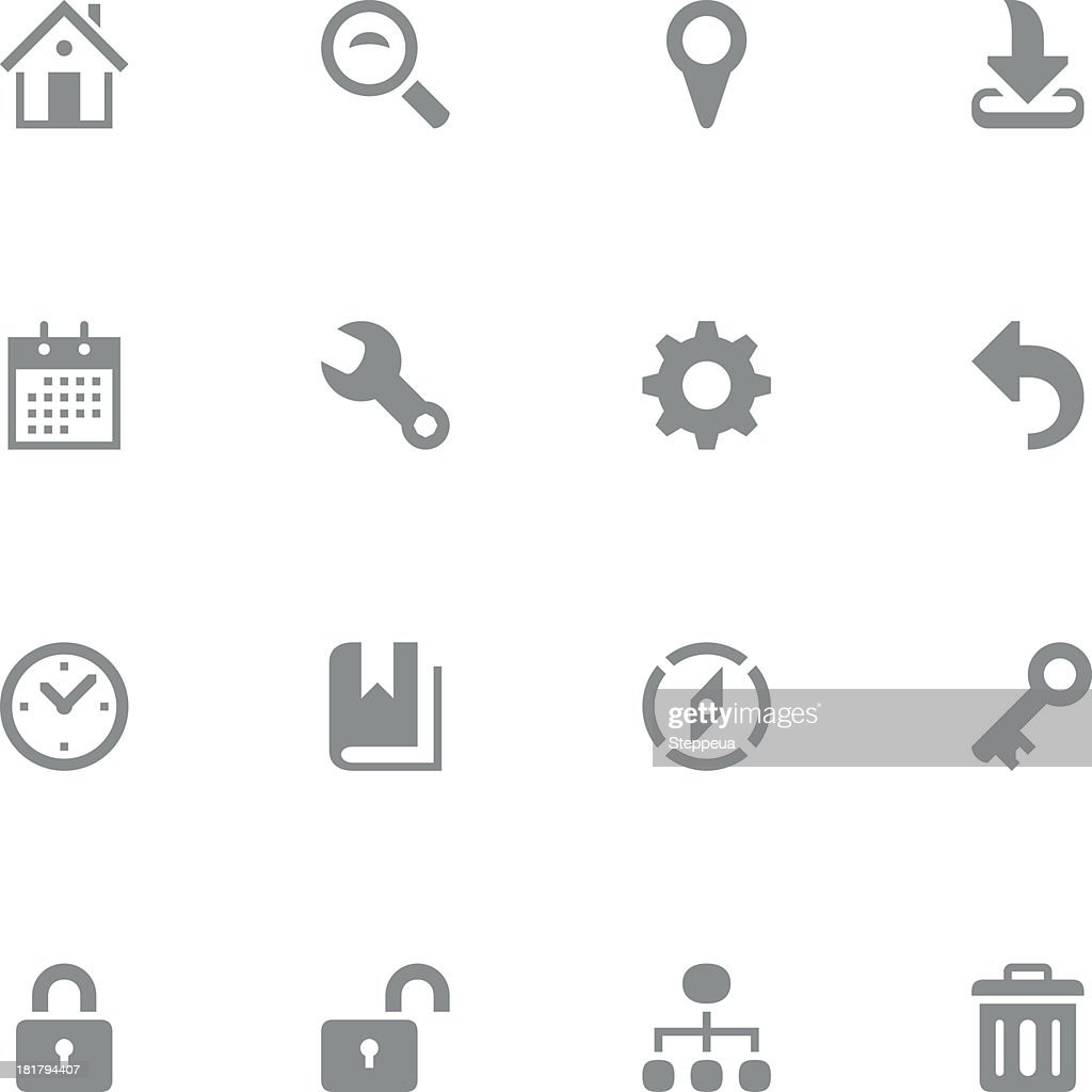 Variety of web and technology icons