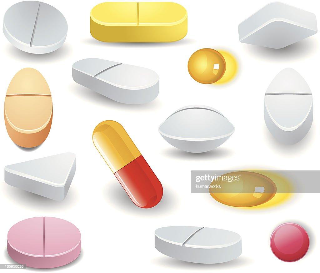 variety pills : stock illustration