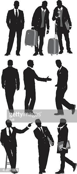 Various actions of businessmen