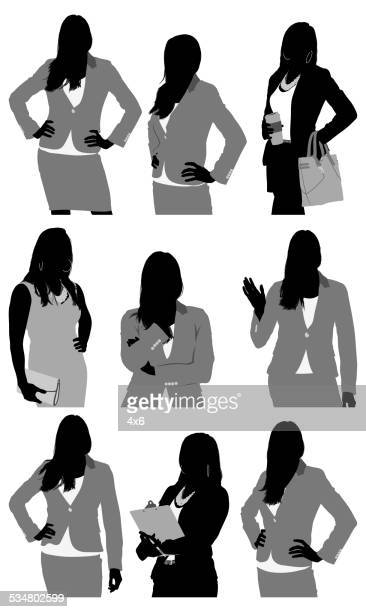 Various actions of businesswoman