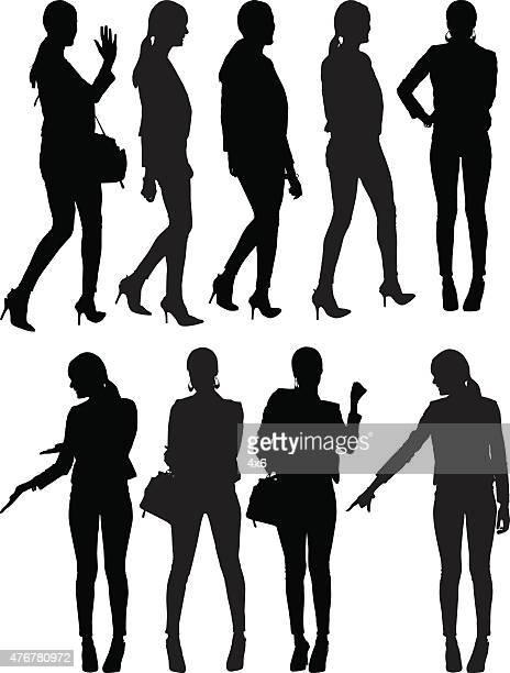 様々な処置の businesswomen - ポニーテール点のイラスト素材/クリップアート素材/マンガ素材/アイコン素材