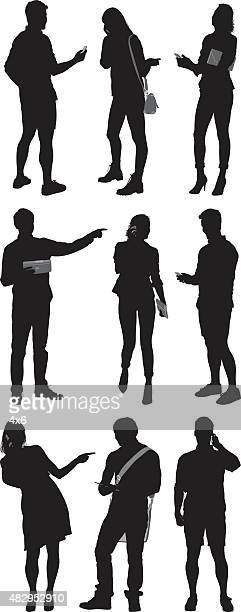 various actions of people - holding stock illustrations