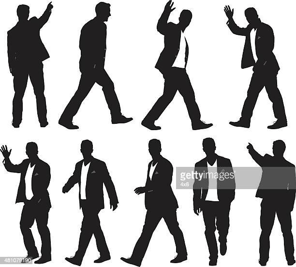 various actions of smart casual man - 2015 stock illustrations