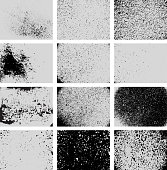 Various Black and White Grunge Texture