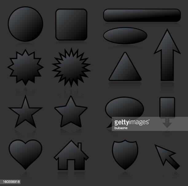 Various Blank Business royalty free vector arts on Black Background
