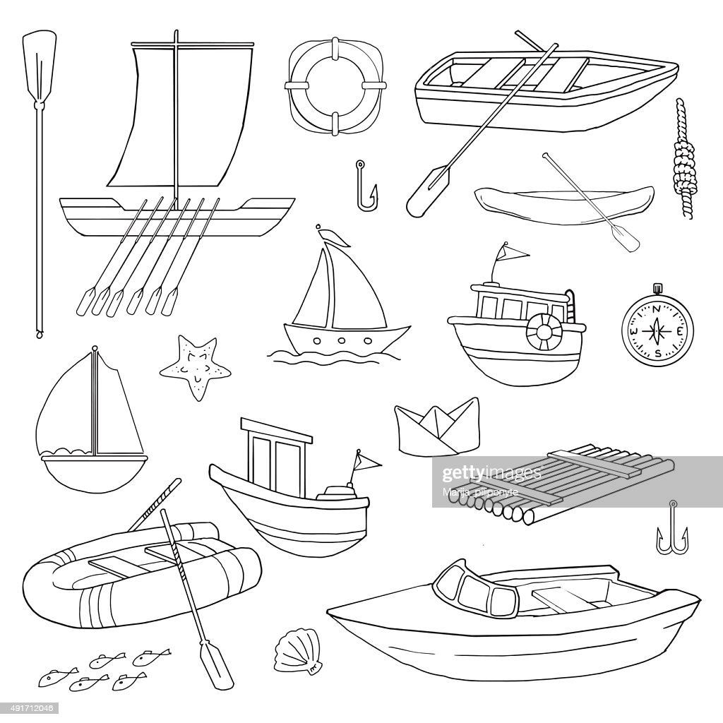 various boats and related nautical items