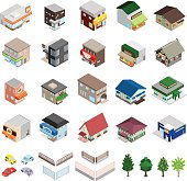 Various building and home figured icons