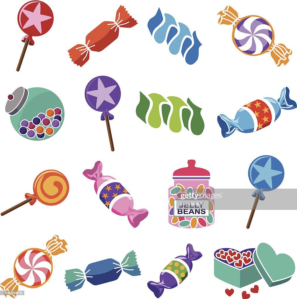 various candies
