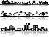 Various city