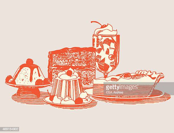 various desserts - whipped food stock illustrations, clip art, cartoons, & icons