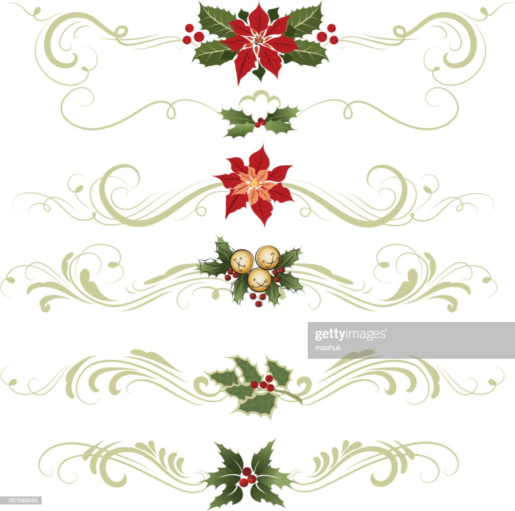 various different ornaments christmas decorations vector art - Different Christmas Decorations