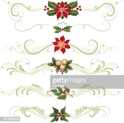 various different ornaments christmas decorations vector art getty images - Different Christmas Decorations