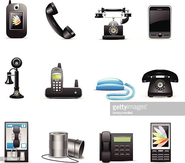 Various drawn phone style icons
