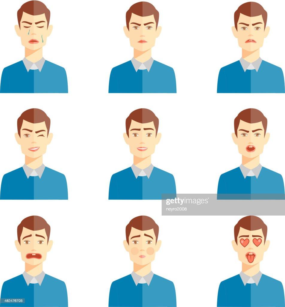 various emotions illustration