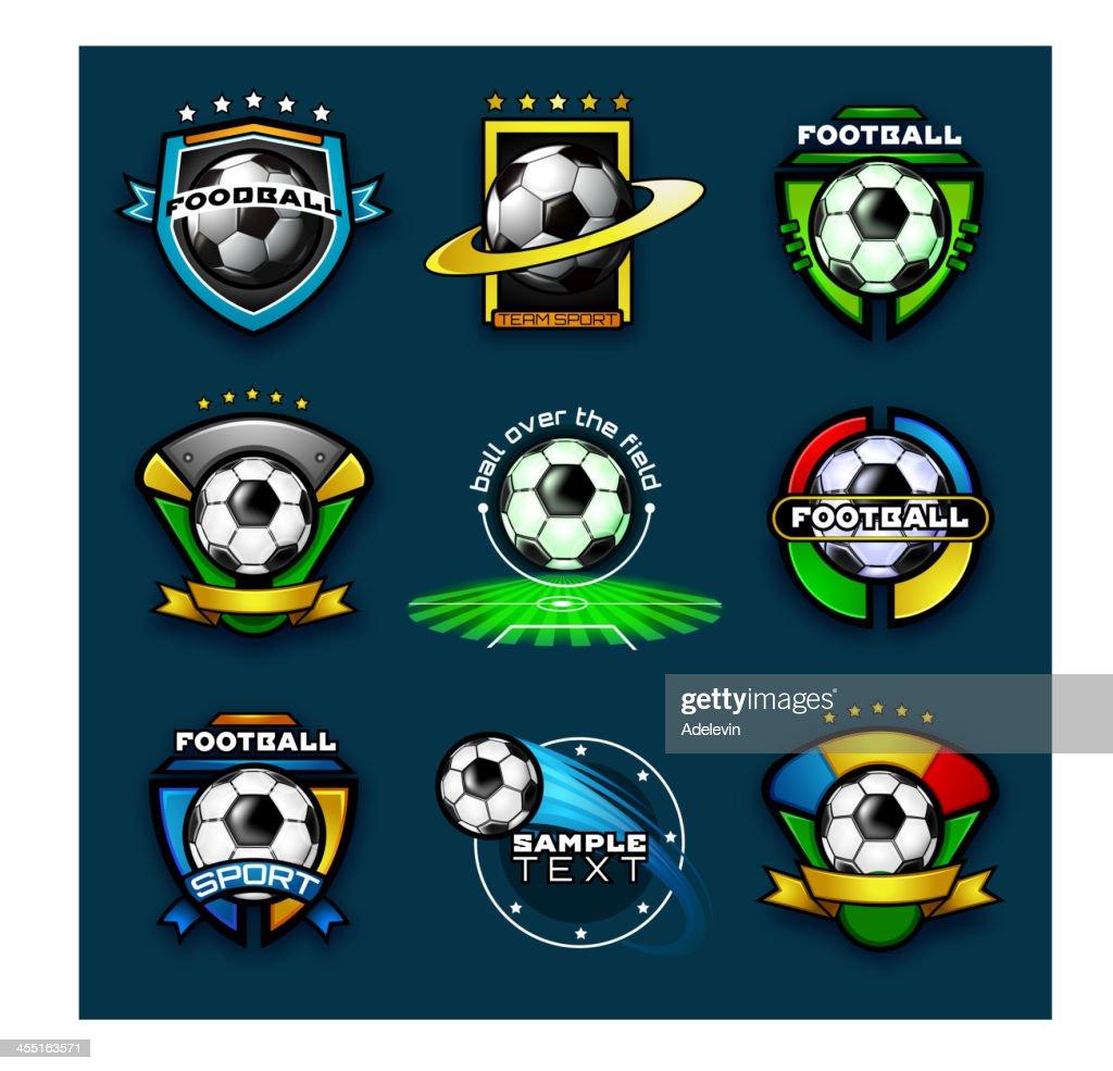 Various football emblems : Vector Art