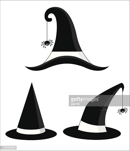 Various Halloween Witches Hats