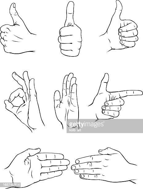 various hand forms 3 - slapping stock illustrations