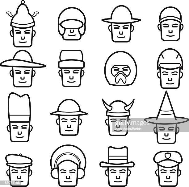 police hat drawing stock illustrations and cartoons