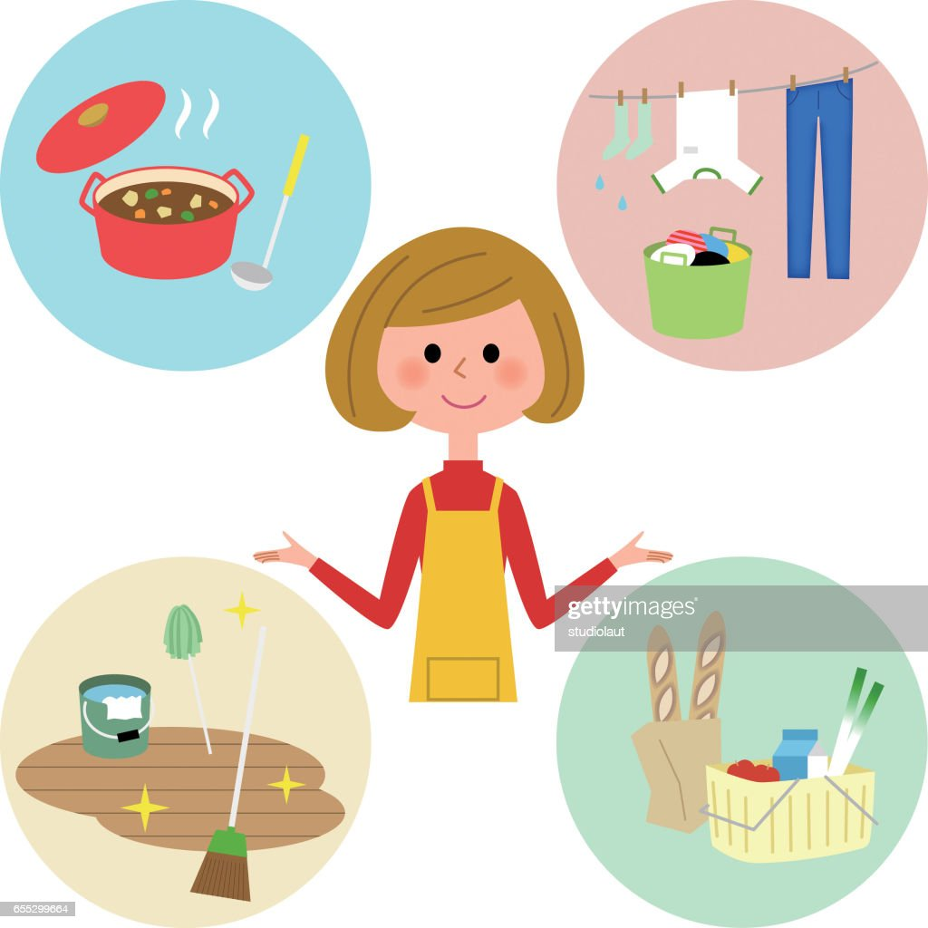 Various housework and mother
