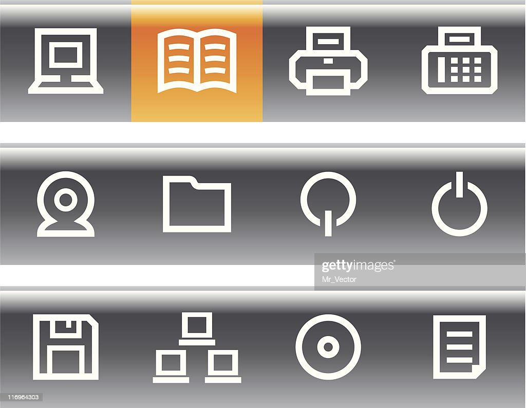 Various icons related to computers and the web