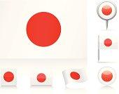 Various interpretations of the flag of Japan