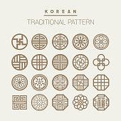 Various Korean traditional pattern vector set. EPS10