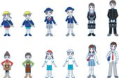 Various person / Whole body style