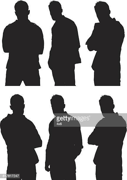 various poses of casual man - waist up stock illustrations, clip art, cartoons, & icons
