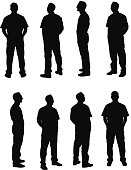 Various poses of mechanic
