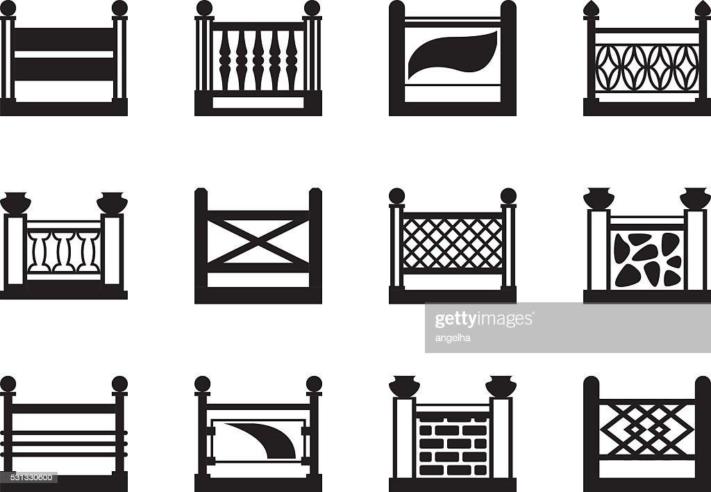 Various railings for balconies