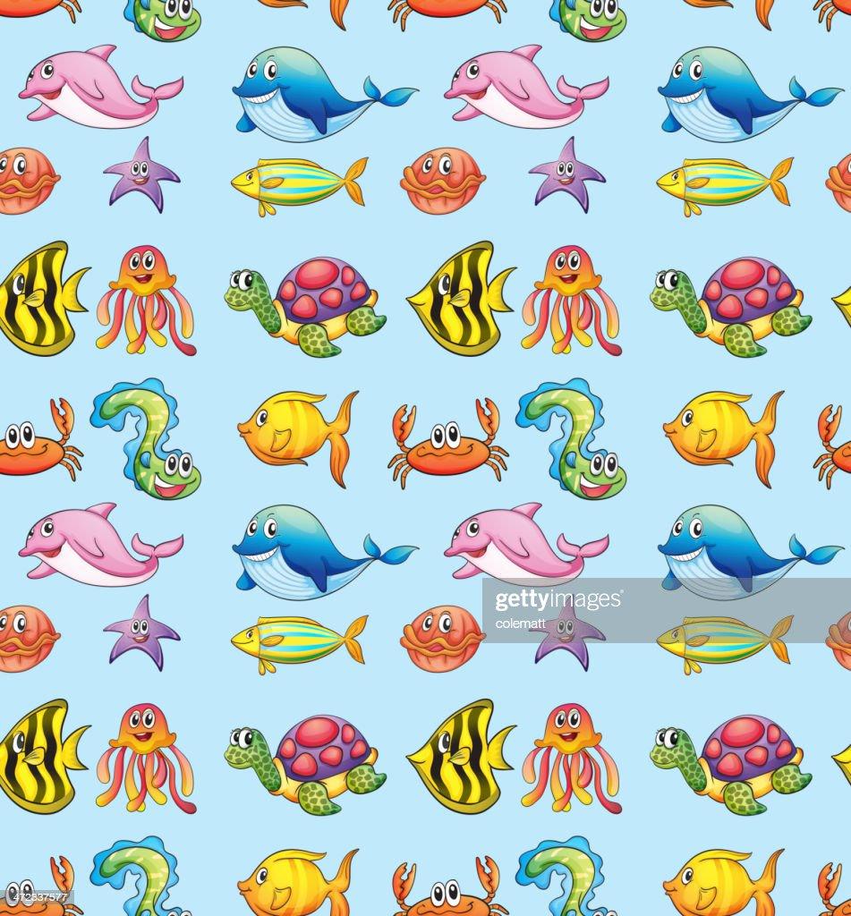 Various sea animals