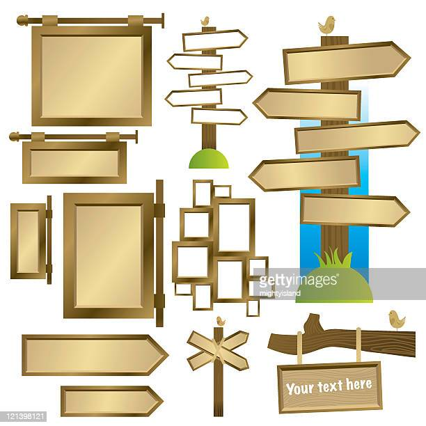 various signs and frames - crossing sign stock illustrations, clip art, cartoons, & icons