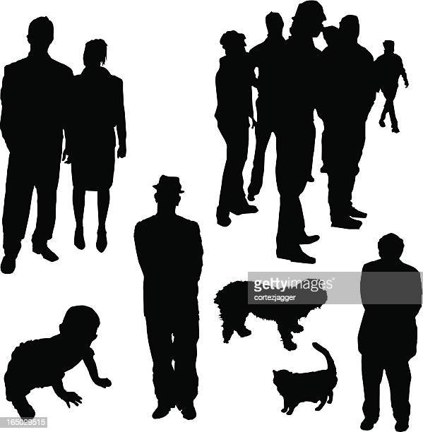Various Silhouettes (vector illustrations)