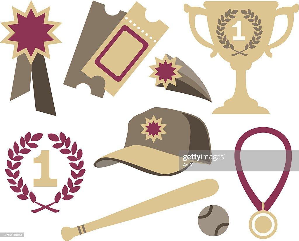 Various sports elements