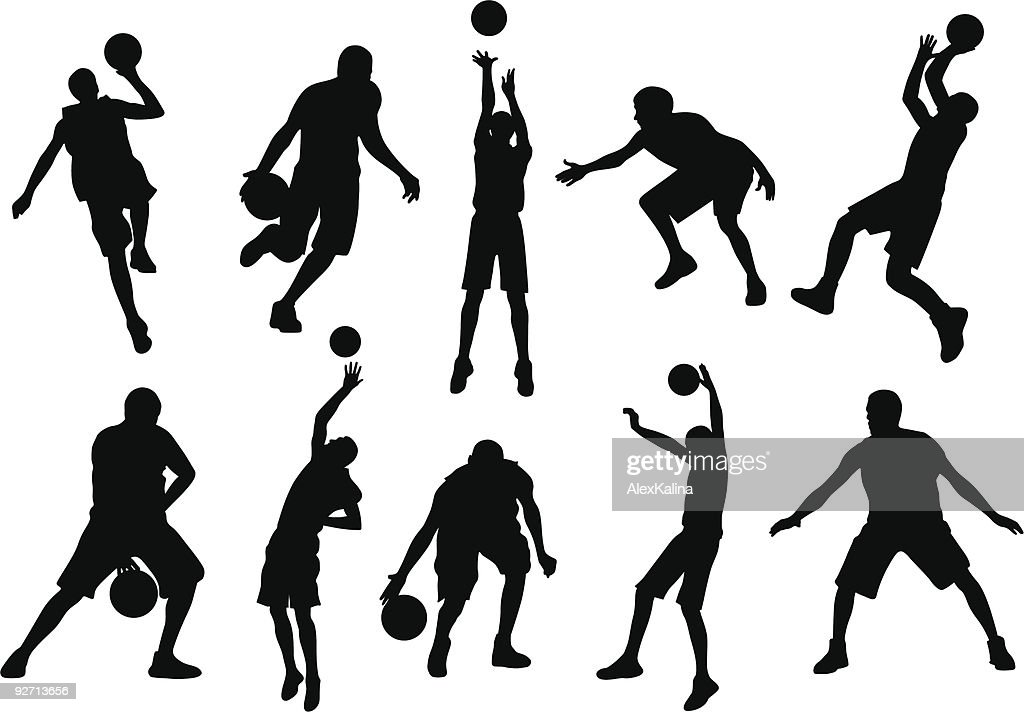 Various sports silhouette in action