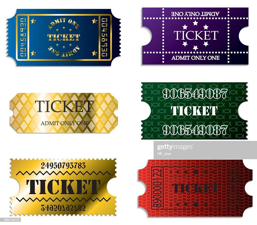 Various ticket set of six