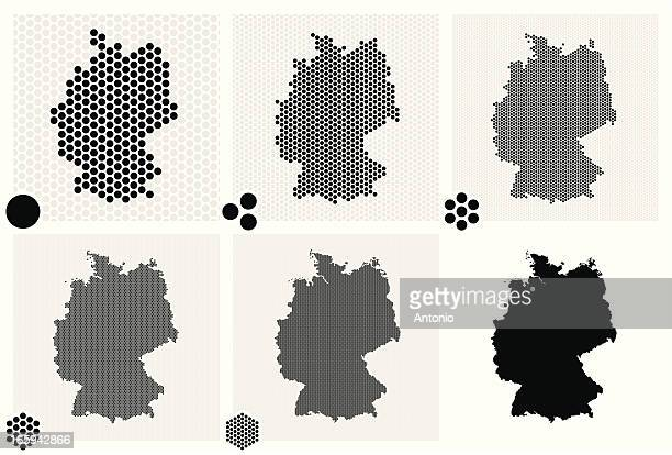 various tiles of germany in multiple dotted patterns - germany stock illustrations, clip art, cartoons, & icons