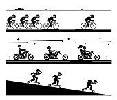 Various types of transport.