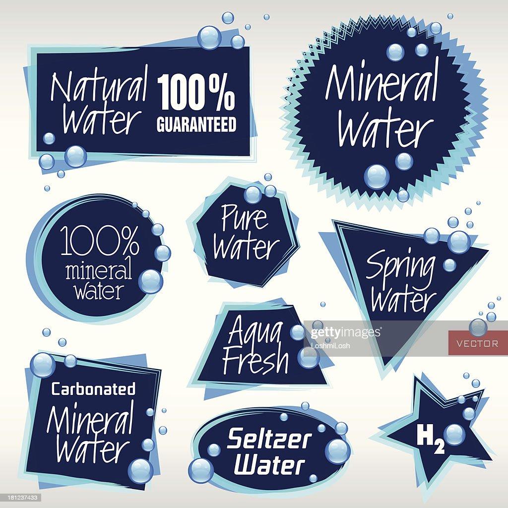 Various Vector Water Labels