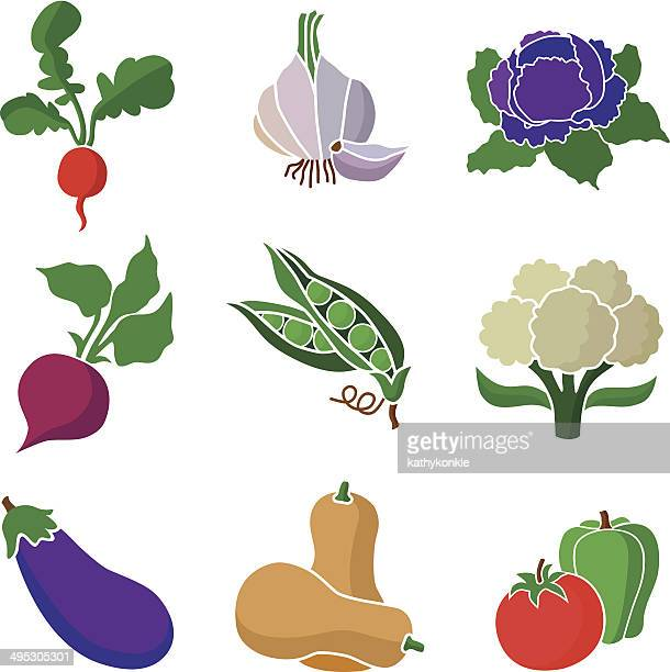 various vegetables - red cabbage stock illustrations, clip art, cartoons, & icons
