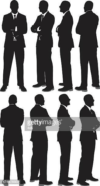 Verschiedene Ausblicke Geschäftsmann