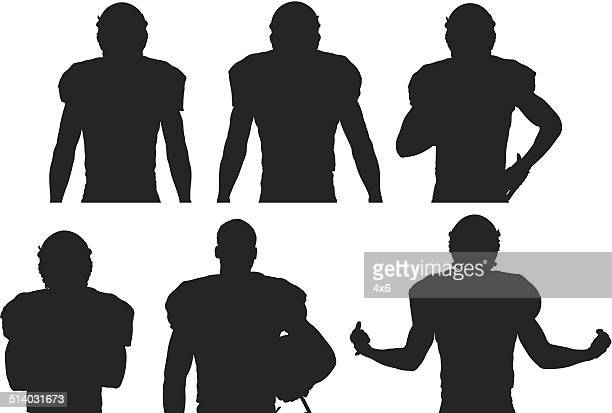 Various views of American football player