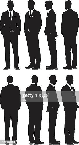 Différentes vue d'un homme d'affaires