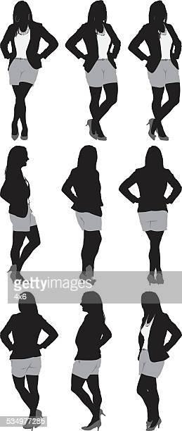 Various views of businesswoman