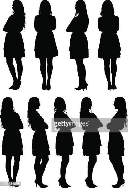 さまざまなカジュアルな女性の眺め