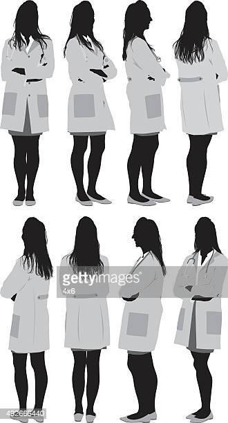 様々な女性医師の眺め - 女医点のイラスト素材/クリップアート素材/マンガ素材/アイコン素材