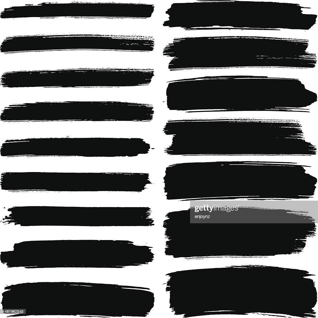 Verschiedene breite brush strokes : Stock-Illustration